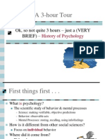 Psychology - brief history of psychology