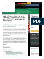 AFP Urges House Ways and Means Committee to Oppose Extending WIND Subsidies