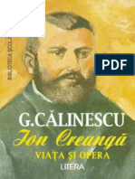Calinescu George - Viata Si Opera Lui Ion Creanga (Aprecieri