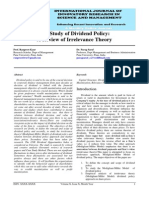 IJIRSM Ranpreet Kaur the Study of Dividend Policy a Review of Irrelevance Theory