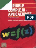 Variable Compleja y Aplicaciones - 5ta Edición - Ruel v. Churchill & James Ward Brown