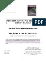 Asme 2007 Bilingue Section Viii Div 1 - Sommaire