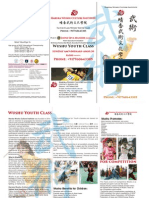 Wushu Youth Class Brochure of Haruka Wushu Culture Institute