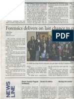 Forensics Delivers on Last Chance to Come First