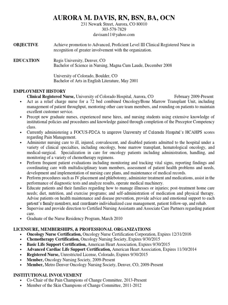 Cv 4 16 2014 Professional Certification Nursing