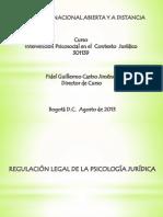 Regulacion Legal de La Psicologia Juridica