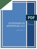 Actividad de Aprendizaje No 3,4,5
