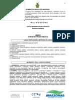 Conteudo Programático - Cetam Prova