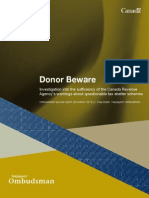 Donor Beware - Ombudsman special report, December 2013