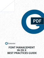 Font Management in OSX Best Practices Guide