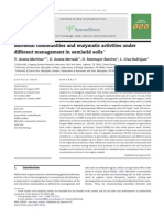 Microbial Communities and Enzymatic Activities Under