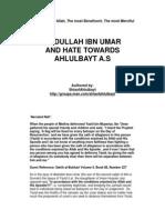 Abdullah Ibn Umar and Hate Towards Ahlulbayt