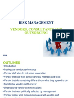 Risk Management - Vendors Issues