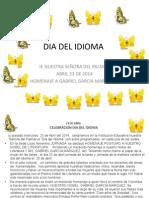 Dia Del Idioma Abril 23 de 2014 en Power Point