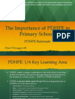 importance of pdhpe in primary schools