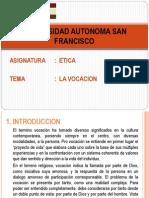 Presentacion - La Vocacion