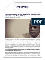 Entrevista a Jose Maria de Viana Prodavinci Mayo 2014