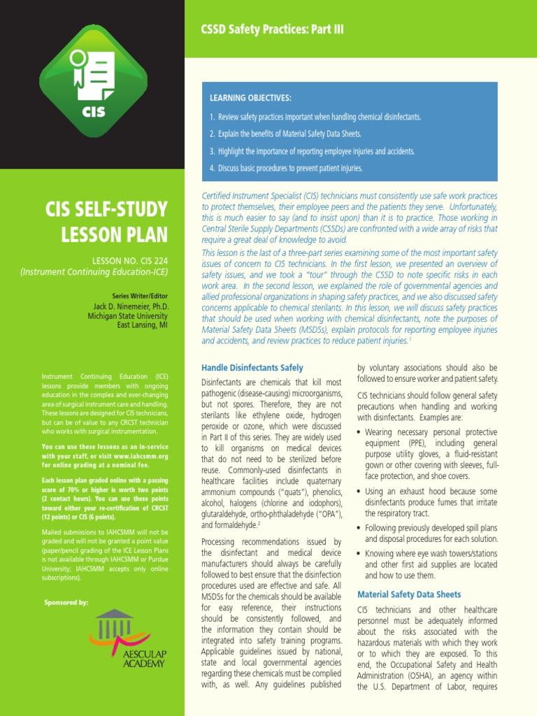 Cis 21 Sterilization Microbiology Disinfectant