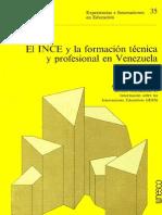 El Ince y La Formacion Tecnica en Venezuela-UNESCO