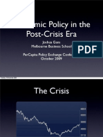Economic Policy in the Post Crisis Era