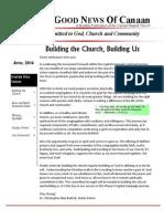 Canaan Baptist Church Newsletter April 2014