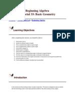 Beginning Algebra.basic Geometry2