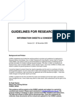 COREC Guidance on Information Sheets and Consent Forms 2005