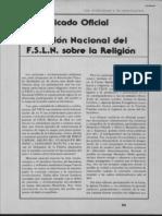 Comunicado Oficial Del FSLN Sobre La Religión