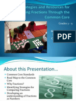 Math Institute Teaching Fractions