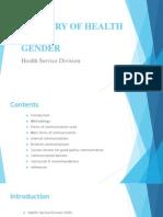 Ministry of Health & Gender