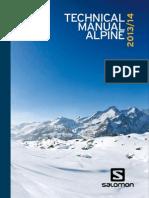 2013 Salomon Alpine Tech Manual
