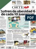 Periódico Norte de Ciudad Juárez edición impresa del 11 mayo de 2014