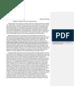 argumentative essay-student work sample