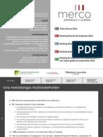 Datos MERCO 2013 Personajes y Empresas Del Año