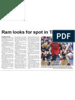 Ram looks for spot in Tall Blacks (The Star, April 30, 2014)