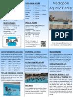 Mediapolis Aquatic Center Brochure- 2014