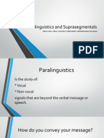 Paralinguistics and Suprasegmentals