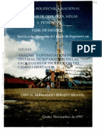 Analisis y Optimizacion de Los Sistemas de Separacion en Las Facilidades de Produccion Del Campo Libertador