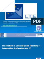Innovation in Learning and Teaching 2