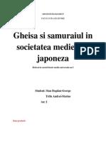 Gheisa Si Samurailui in Sociaetatea Medievala Japoneza