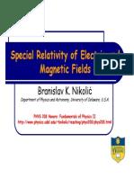 Em Special Relativity