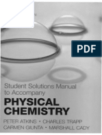 Atkins Physical Chemistry 8e (Student Solutions Manual)