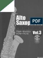 Alto Saxophone Performance Vol.3