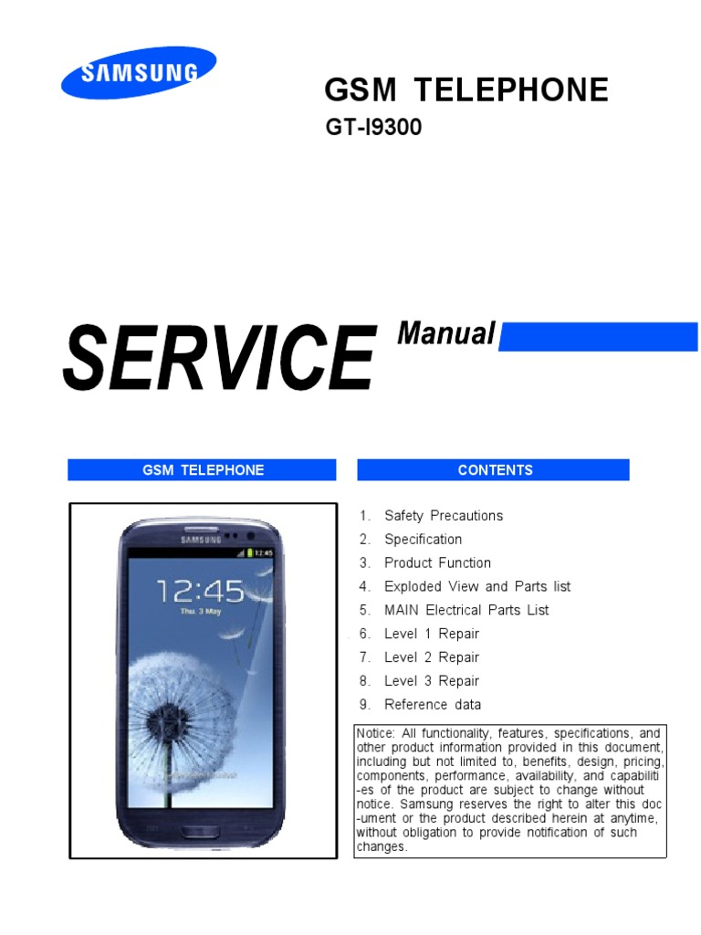 Manual de Servicio Samsung GS I9300 Electrostatic Discharge