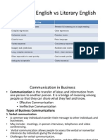 Business English vs Literary English