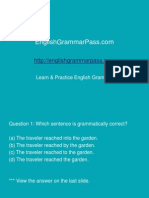 English grammar test 1