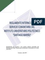 Reglamento Interno Del Servicio Comunitario Iupsm