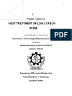 Heat Treatment of Low Carbon Steel