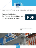 Design Guidelines for Connections of Precast Structures Under Seismic Actions
