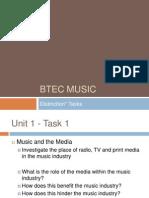 BTEC Music Distinction Tasks PP